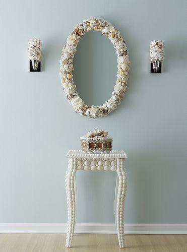 我爱我家海洋贝壳装饰它磐石